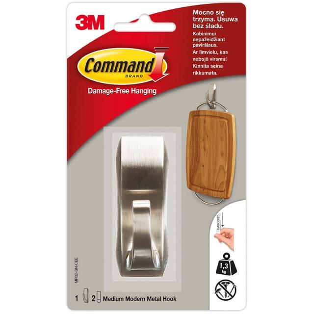 Крючок металлический Command Modern средний (MR02-BN)