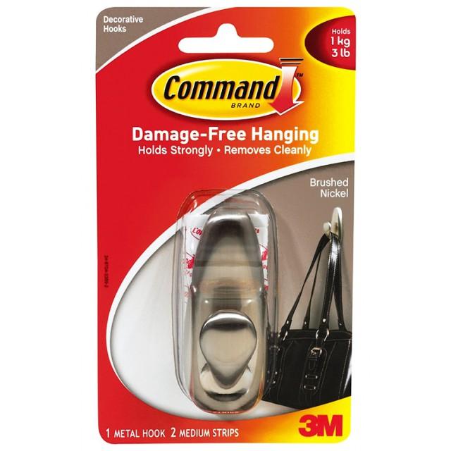 Крючок металлический Command средний (FC12-BN)