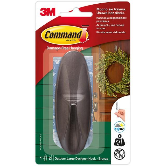 Дизайн крючок Command уличный большой Черный (17083BZ-AW)