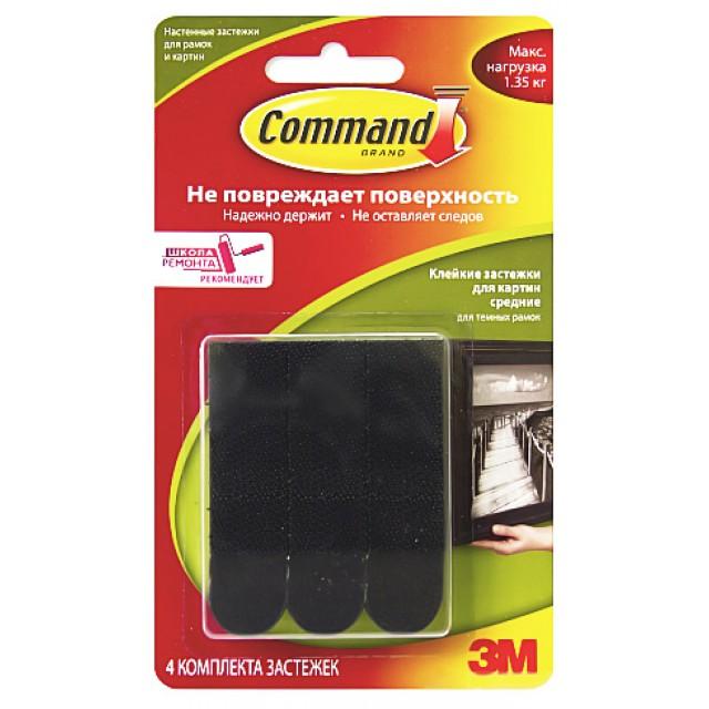 Застежки для рамок и картин Command средние черные (17201ВLК)