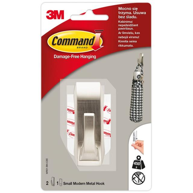 Крючок металлический Command Modern малый (MR01-BN)