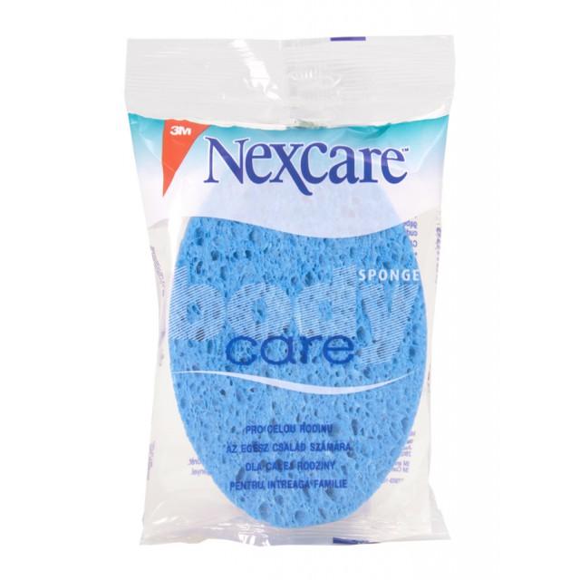 Губка массажная для тела Nexcare Care голубая