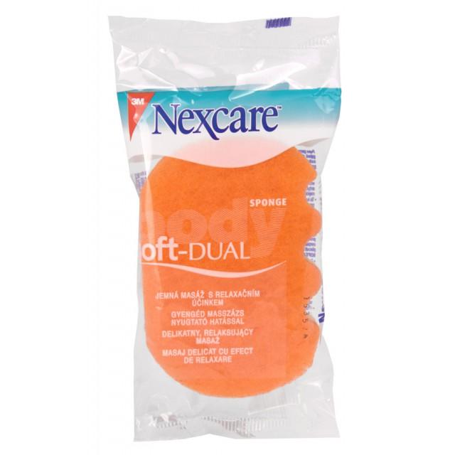 Губка массажная для тела Nexcare Soft-Dual мягкая оранжевая