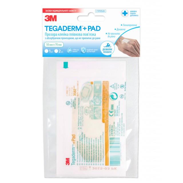 Для домашней аптечки: Прозрачная повязка Tegaderm™+Pad 6х10 см (3584)